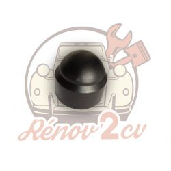 Wheel nut cover black 2cv...