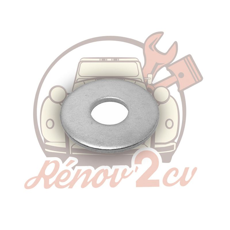 Rondelle M5 tete moyenne 12mm zingue blanc