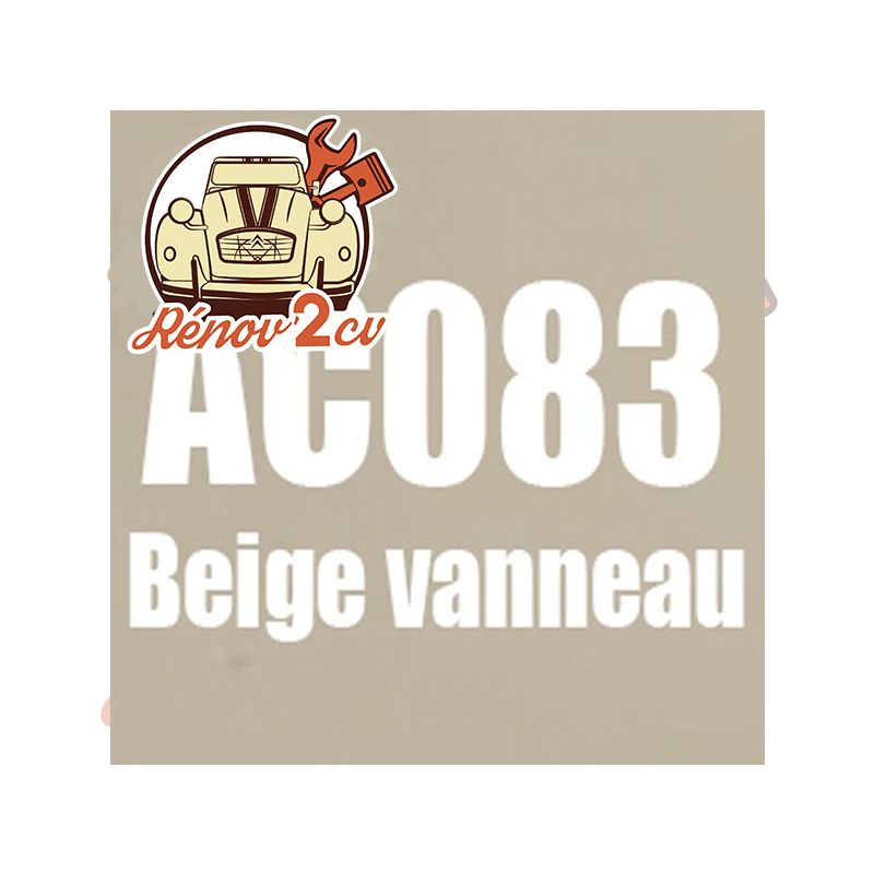 kit peinture 2cv ac 083 beige vanneau 1.3 kilos