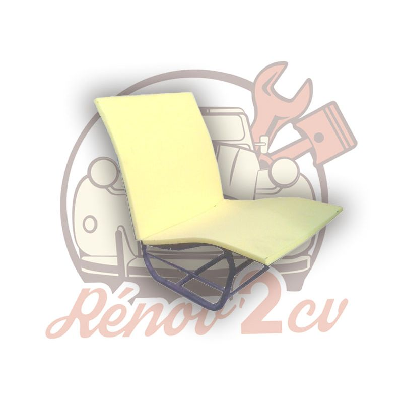 Set of 2 foams for front individual seat 2cv