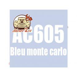 kit peinture 2cv ac bleu monte carlo ac 605 1.3 kilos
