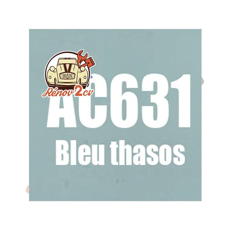 kit peinture 2cv ac bleu thasos ac 631 1.3 kilos
