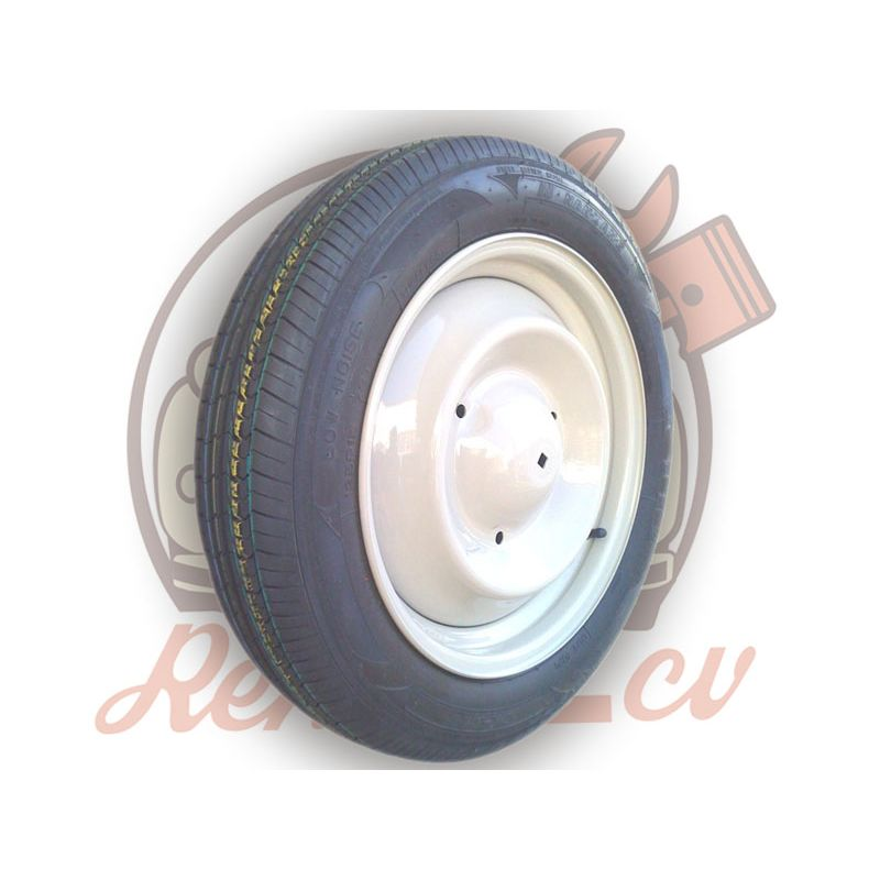 Complete wheel 135/15 nankang 2cv mehari dyane acadiane