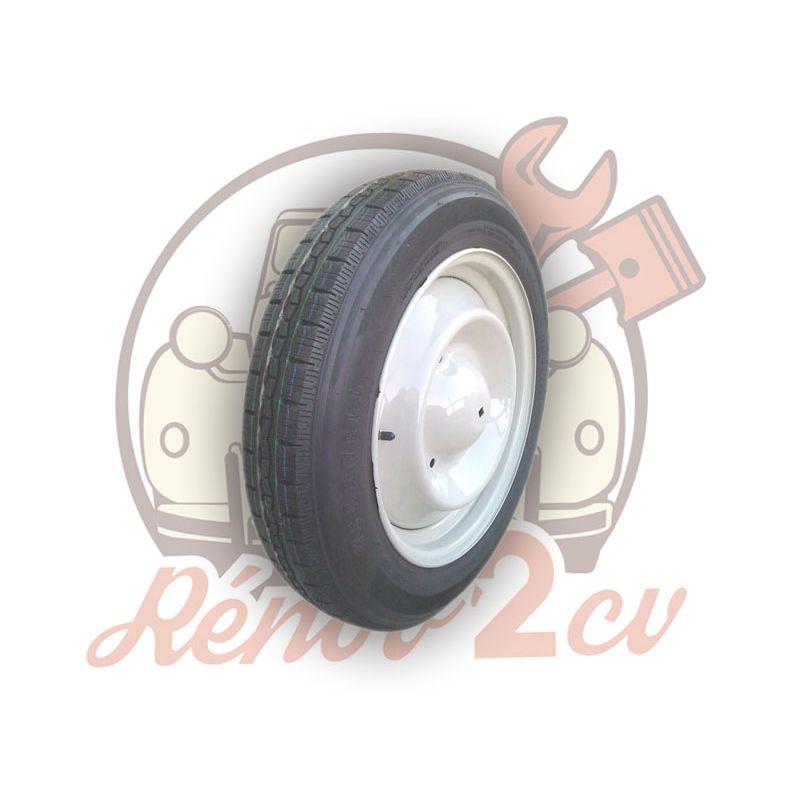 Complete wheel 125/15 VEE RUBBER 2cv mehari dyane acadiane