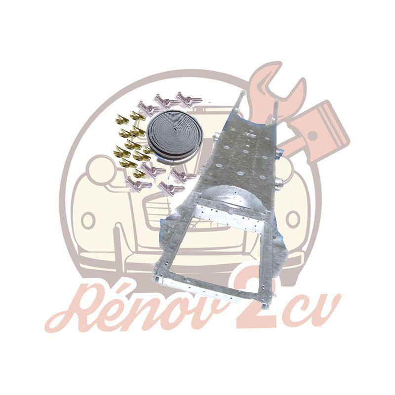 Telaio zincato approvato 2cv mehari dyane + kit di fissaggio