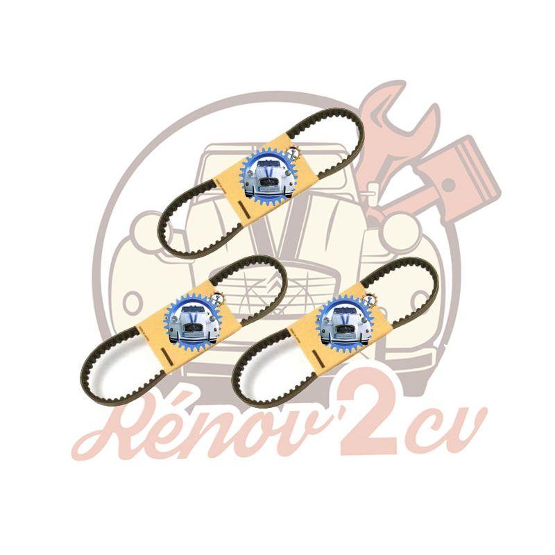 Set of 3 alternator V belts 2cv mehari dyane acadiane  10x765