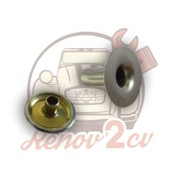Repair button kit for 2cv hood
