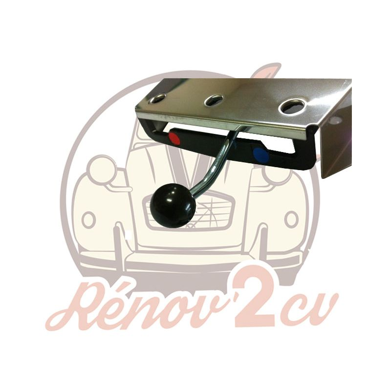 Botón para mando de calefaccion acero negro