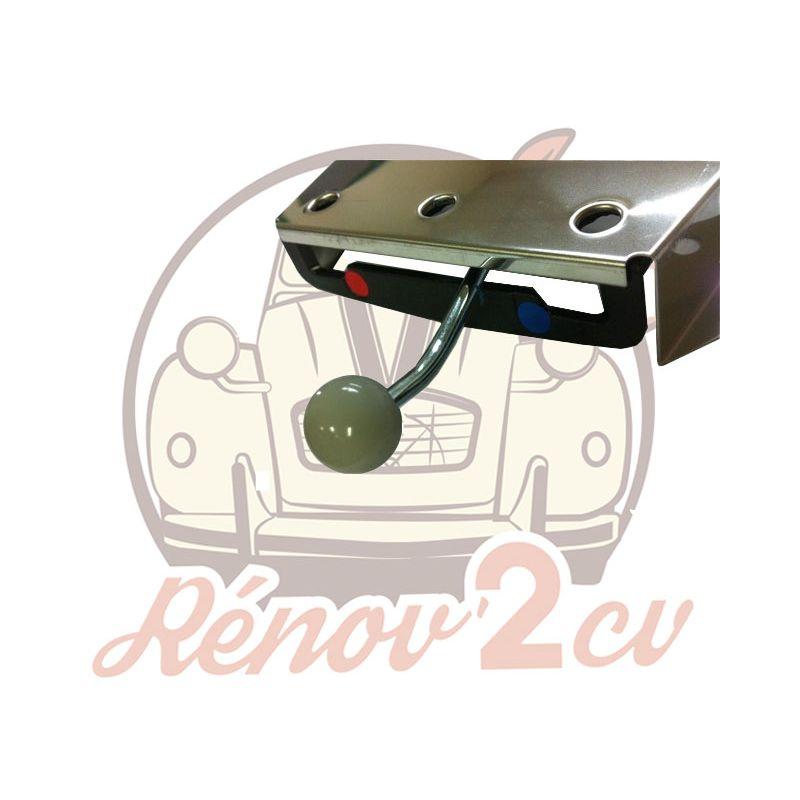 Botón para mando de calefaccion acero rosado gris