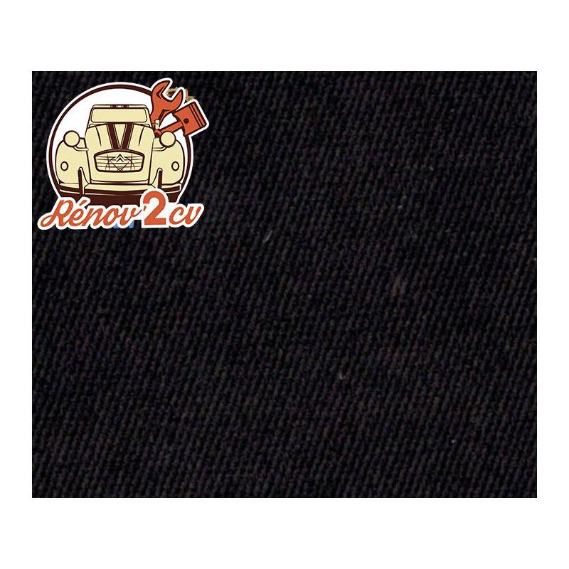 Cappotta corta 2cv tessuto di cotone nero