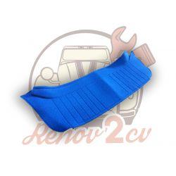 Plage arrière de 2cv en tissus bleu diamante