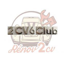 "Lettrage chrome "" 2CV6 Club """