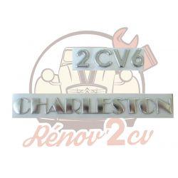 "Lettrage chrome "" 2CV6 Charleston """