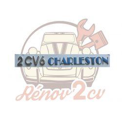 "Lettrage chrome et bleu "" 2CV6 Charleston """