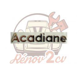 "Lettrage chrome "" Acadiane """