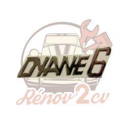 """Lettrage chrome """" Dyane 6 """""""