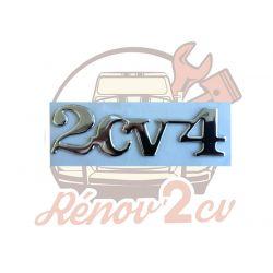 """Chrome-plated monogram """"2cv 4"""""""