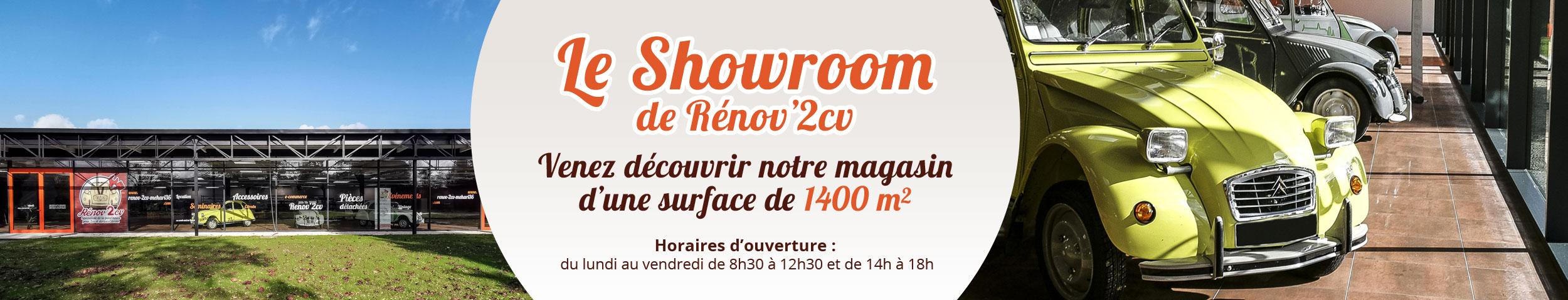 Vente pièces détachées de 2cv : Le showroom Renov'2CV